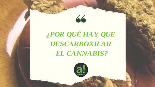 Por que hay que descarboxilar el cannabis