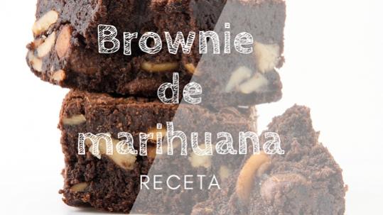 receta Brownie de marihuana